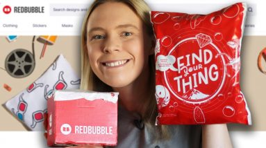 The HONEST TRUTH About RedBubble! Reviewing & Unboxing RedBubble Products